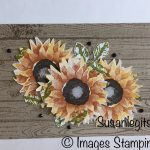 Sunflower card with Painted Harvest stamp set