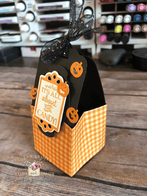 Halloween treat container