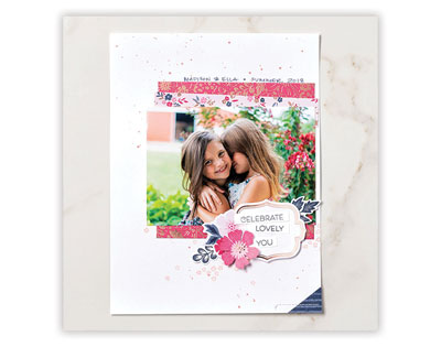 Everything is Rosy scrapbook page