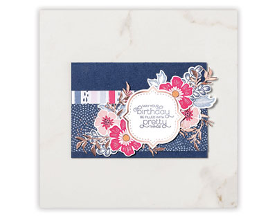 Everything is Rosy navy card
