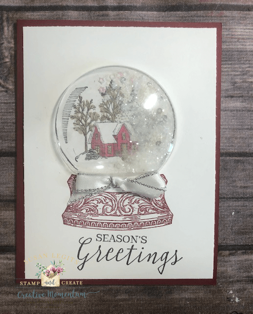 White Snow Globe card