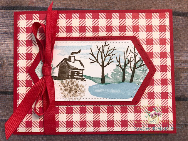 Snow Front red plaid