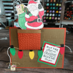 Santa chimney card