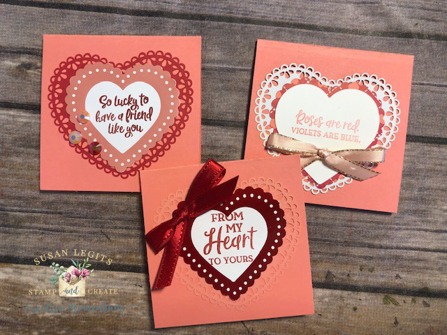 Valentine love note cards