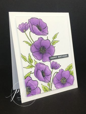 Purple Painted Poppies